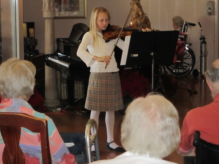 community outreach program brings live music performances to assisted living and nursing homes